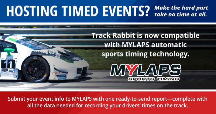Hosting timed events? Track Rabbit is now compatible with MYLAPS automatic sports timing technology!